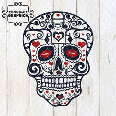Digital File - Sugar Skull For Football with SVG, DXF, PNG Commercial & Personal Use