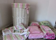 Cute Pottery Barn Kids Bathroom Hamper Shower Curtain Wall Striped Towels Set #PotteryBarnKids