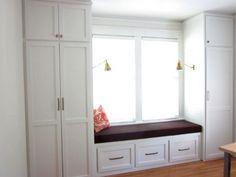 Bedroom closet design - Ideas Bedroom Closet Design Built In Wardrobe Window Seats For 2019 bedroom Bedroom Windows, Bedroom Doors, Closet Bedroom, Bedroom Storage, Kids Bedroom, Childrens Bedroom, Bay Windows, Wardrobe Closet, Master Closet