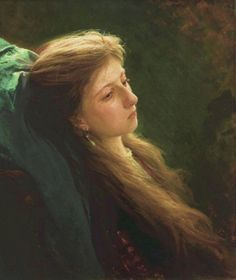The light in the hair is amazing!!!  Ivan-kramskoi-a-girl-with-an-unruly-disposition-1873