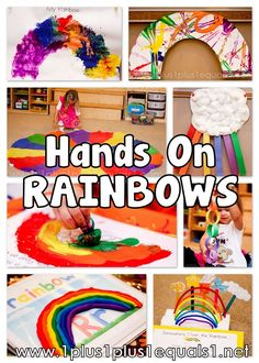 R is for Rainbow Fun (TONS of rainbow crafts)