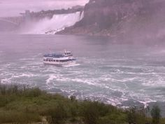 maid of the mist on American side pic taken on journey behind the falls