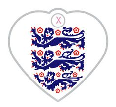 Small England Three Lions Flag Dog Id Tag | Happy Dog Days