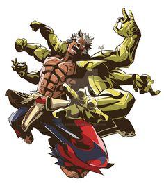Asura Wrath Fanart by GlaucoSilva on DeviantArt Fantasy Character Design, Character Concept, Character Art, Fantasy Characters, Anime Characters, Asura's Wrath, Batman The Animated Series, Robot Concept Art, Science Fiction Art