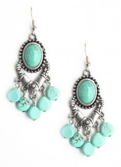 Turquoise Stone Earrings turquoise-jewelry