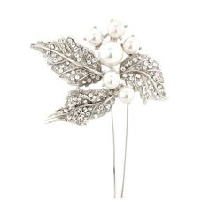 Pearl Leaves Hair Pin | Hair Accessories | Glitzy Secrets