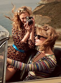 Taylor Swift and Karlie Kloss photographed by Mikael Jansson, Vogue, March 2015.
