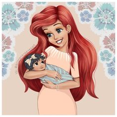 "Artist Shows What Follows ""Happily Ever After"" With Her Drawings of Disney Princesses as Moms"