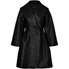 Giambattista Valli Metallic Jacquard Coat (28 605 UAH) ❤ liked on Polyvore featuring outerwear, coats, jackets, coats & jackets, black, giambattista valli, giambattista valli coat, metallic coat and jacquard coat