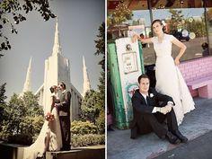 Great Portland LDS Temple Bride and Groom Shot  We love Temples at: www.MormonFavorites.com