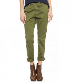Current/Elliott The Buddy Trousers in military green