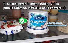 L'Astuce d'un Cuisto Pour Conserver la Crème Fraîche 2 FOIS PLUS LONGTEMPS.