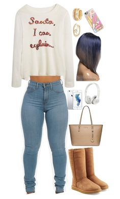 """""""Santa"""" by mina-smith1 on Polyvore featuring UGG Australia, Michael Kors, Beats by Dr. Dre, Forever 21 and Casetify"""