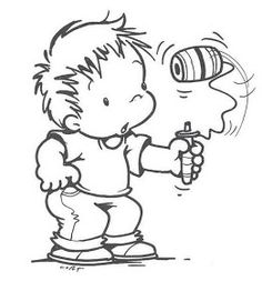 National Holidays, Kids Boxing, Digital Stamps, Coloring Books, Hello Kitty, Diy And Crafts, Snoopy, Clip Art, Illustration