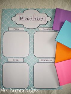 {FREE} Sticky Note Teaching Planner