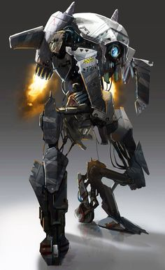 Robots by Spiros Karkavelas, found over at http://http://conceptrobots.blogspot.com