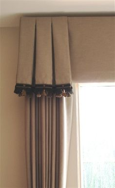 Master Bedroom window treatment..by Interiors by Jeanine #bedroom #windows