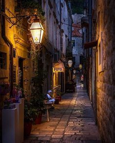 Narrow street, Dubrovnik by Karl P. Laulo-Narrow street, Dubrovnik by Karl P. Laulo Narrow street, Dubrovnik by Karl P. City Aesthetic, Travel Aesthetic, Places To Travel, Places To See, Beautiful World, Beautiful Places, Beautiful Moon, Wonderful Places, Belle Photo