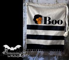 DIY Halloween Treat Bag : DIY  Boo Bag