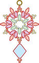 Deb Roberti's free Snowflake earring pattern - more superduos. #Seed #Bead #Tutorials:
