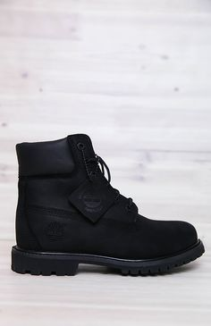 Timberland | Women's 6-Inch Premium Waterproof Boots - Black Nubuck | Back In Stock | Peppermayo