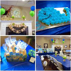 My navy blue and lime green whale baby shower turned out amazing!