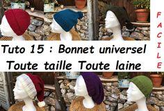 Les 65 meilleures images de Tuto 15 : tricoter un bonnet, toute taille, toute laine, sur mesure ...