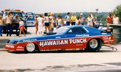 The HAWAIIAN PUNCH Funny Car owned by Roland Leong and driven by Mike Dunn