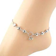 US Women Heart Cherries Chain Anklet Bracelet Barefoot Sandal Beach Foot Jewelry Ankle Jewelry, Cute Jewelry, Body Jewelry, Women Jewelry, Jewelry Case, Jewelry Bracelets, Jewelry Gifts, Craft Jewelry, Star Jewelry