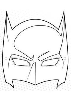 maschera di batman da stampare e colorare