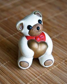 Thun Teddy con cuore, orsetto vintage, orsacchiotto