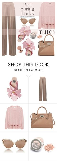 """""""mules and nudes"""" by nataskaz ❤ liked on Polyvore featuring FAUSTO PUGLISI, Cushnie Et Ochs, H&M, Jimmy Choo and Linda Farrow"""