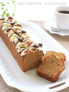 「大人の香り コーヒーパウンドケーキ」かっぱ橋浅井商店さん Snack Recipes, Dessert Recipes, Desserts, Mini Loaf Cakes, Food Flatlay, Baked Bakery, Candy Drinks, Homemade Sweets, Sweets Cake