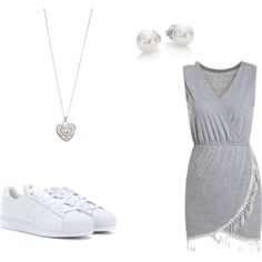 untitled #17 by magicandpeanut on Polyvore featuring adidas Originals, Mikimoto and Accessorize