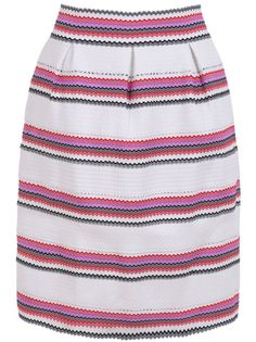 Buy White Striped Midi Skirt from abaday.com, FREE shipping Worldwide - Fashion Clothing, Latest Street Fashion At Abaday.com