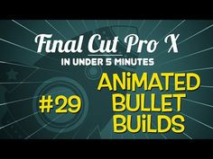 Final Cut Pro X and Motion in harmony - learn how to create animated bullet builds! http://www.motionvfx.com/B4001  #fcpx #fcp #motion #apple