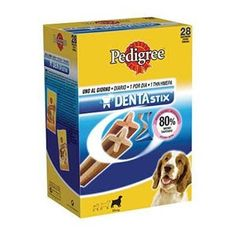 Denta Stix es un snack que favorece la higiene dental, es ideal para perros todas las razas. La forma y la superficie del Stix reducen de forma demostrada el sarro y la placa bacteriana.