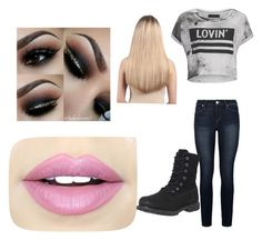"""""""Untitled #22"""" by scarlero on Polyvore featuring Religion Clothing, Paige Denim, Timberland, Extension Professional and Fiebiger"""