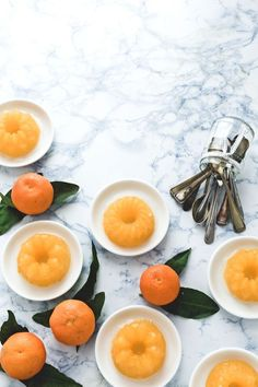 Food photography / bright / from above / Clementine & prosecco jelly - Gelatina di Prosecco e clementine