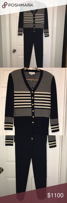 St John's Knit Suit - Navy - Size 8 Pristine condition lightly worn, dry cleaned size 8 St.John's Knit in Navy. St. John Other