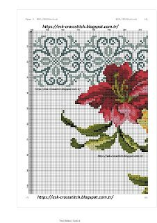 ESK.CROSSstitch: LİLYUM SECCADE kanaviçe modeli Cross Stitch Borders, Cross Stitch Flowers, Cross Stitching, Cross Stitch Patterns, Palestinian Embroidery, Prayer Rug, Bargello, Ribbon Embroidery, Needlework