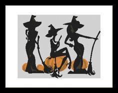 3 Little witches Cross Stitch Pattern