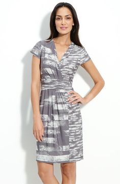 BCBGMaxAzria Jersey Faux Wrap Dress.
