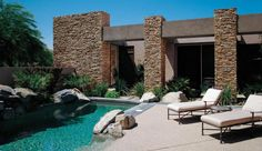 Find out all of the information about the Eldorado Stone product: stone wall cladding STACKED : CASTAWAY. Outdoor Retreat, Outdoor Spaces, Outdoor Living, Outdoor Decor, Eldorado Stone, Stone Pillars, Small Backyard Pools, Wall Cladding, Fireplace Design