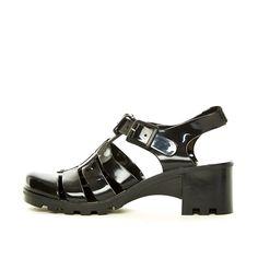 YRU Jealousea, Jelly sandal in black for adults.