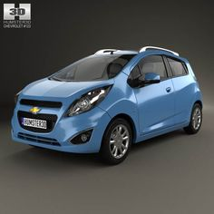 Chevrolet Spark LS 2013 3d model from humster3d.com. Price: $75