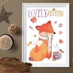 ★ LOVELY AUTUMN ★ feel the taste of hot cocoa with marshmellow, smell falling leaves and cinnamon candles! It's a scarves and cozy sweater weather in the air! And harvest time wall art for the best time of the year...