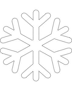 free Snowflake printable pattern  cut paper snowflakes and hang