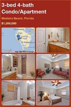 3-bed 4-bath Condo/Apartment in Madeira Beach, Florida ►$1,200,000 #PropertyForSale #RealEstate #Florida http://florida-magic.com/properties/8276-condo-apartment-for-sale-in-madeira-beach-florida-with-3-bedroom-4-bathroom