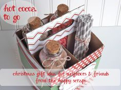 A Little Tipsy: Cocoa to Go Caddy made with the help of Cricut!